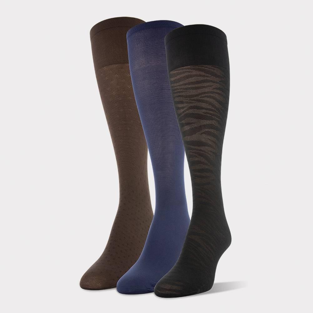 Image of Peds Women's 3pk Light Opaque Trouser Socks -Nude/Navy/Black 5-10, Women's, Size: Small, White