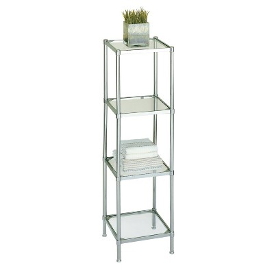 Four Tier Bath Shelf Chrome - Neu Home