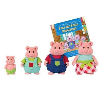 Li'l Woodzeez Miniature Animal Figurine Set - Curlicue Pig Family