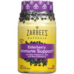 Zarbee's Naturals Elderberry Immune Support Gummies - Natural Berry - 60ct