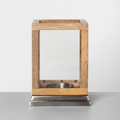 Wood & Glass Lantern - Hearth & Hand™ with Magnolia - image 1 of 4