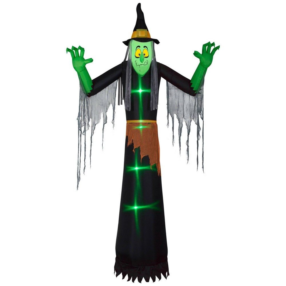 12 39 Witch Inflatable Halloween Decor