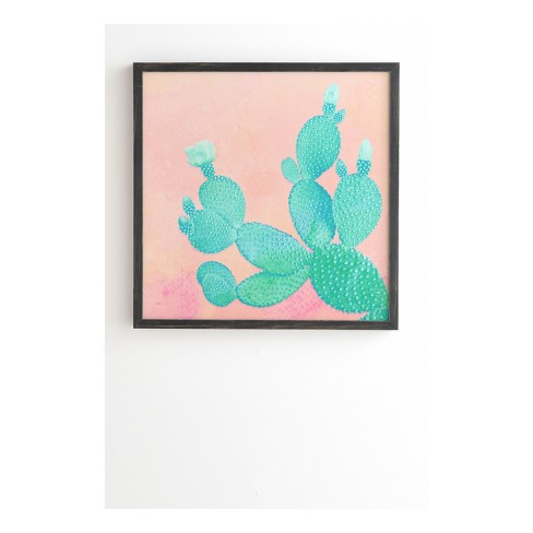 Kangarui Pastel Cactus Framed Wall Art by Deny Designs - image 1 of 1