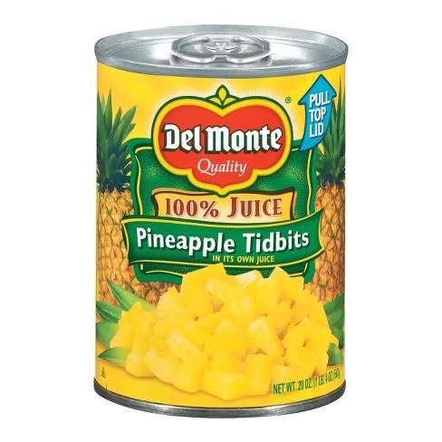 Del Monte Pineapple Tidbits in 100% Juice 20 oz - image 1 of 1