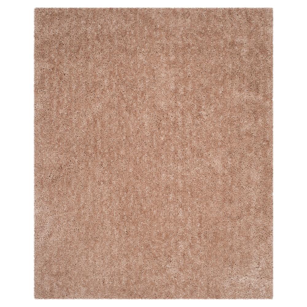 Beige Solid Shag/Flokati Tufted Area Rug - (8'X10') - Safavieh