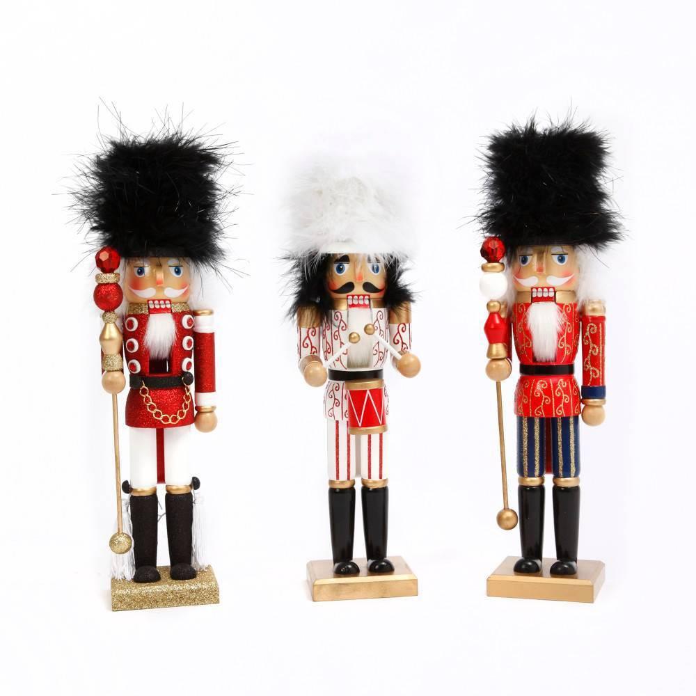 "Image of ""15""""/3ct Wood Nutcracker Decorative Figurine Set - Gerson International"""