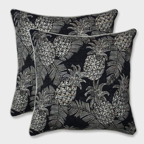 "18.5"" 2pk Carate Batik Noche Throw Pillows Black - Pillow Perfect - image 1 of 2"