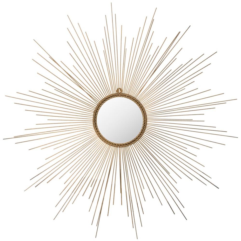 Sunburst Izzy Decorative Wall Mirror Gold - Safavieh