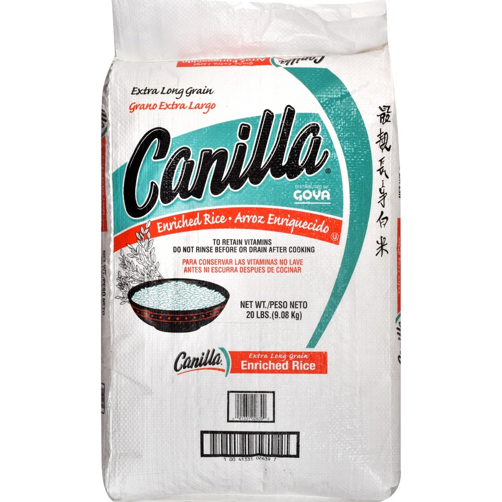 Canilla Etra Long Grain Enriched Rice - 20lbs
