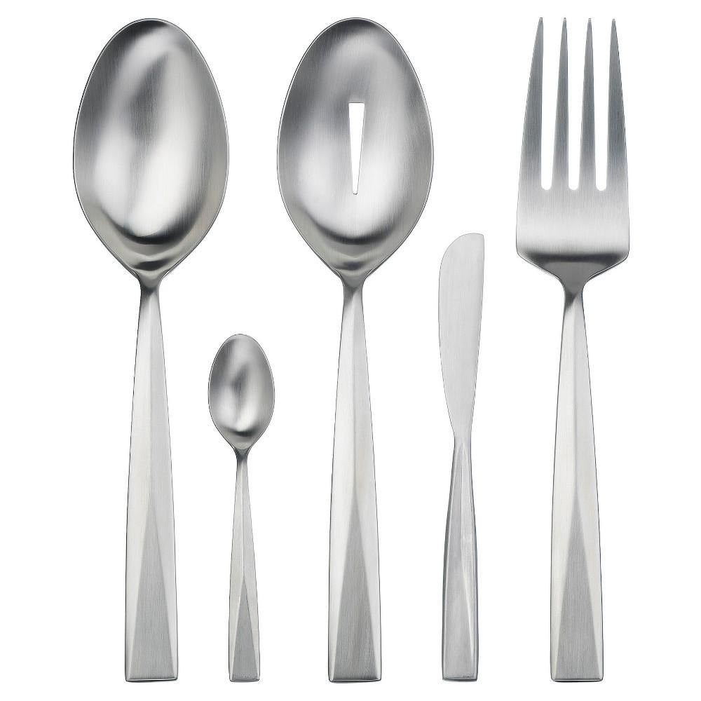 Image of Gourmet Settings Metro 5pc Hostess Set, Silver