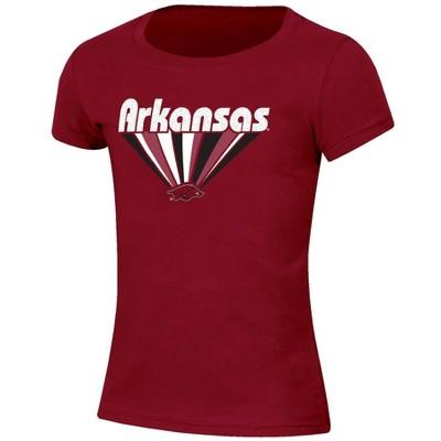 NCAA Arkansas Razorbacks Girls' Short Sleeve Scoop Neck T-Shirt