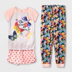 Girls' Butterfly 3pc Pajama Set - Cat & Jack™