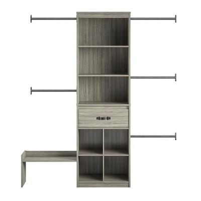 Nova Grow with Me Grey Oak Adjustable Kids' Closet Organizer System
