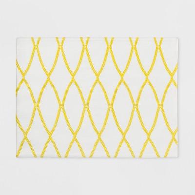 19 x14  Treillis Placemat Yellow - Threshold™