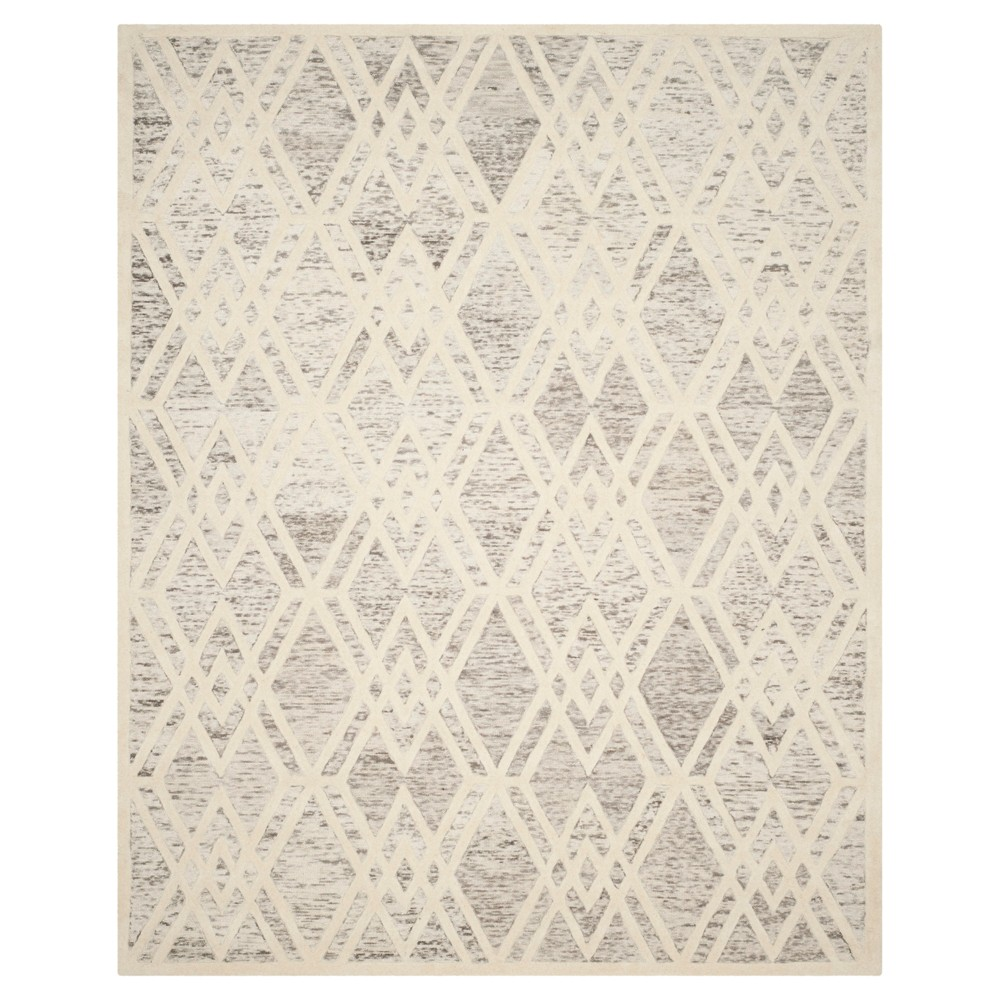 Light Brown/Ivory Abstract Tufted Area Rug - (8'x10') - Safavieh