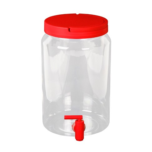 Plastic Beverage Dispenser 5L - Red - image 1 of 1
