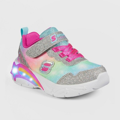 Toddler Girls' S Sport by Skechers Cassia Rainbow Print Light-Up Apparel Sneakers
