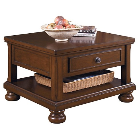 Porter Coffee Table Rustic Brown Signature Design By Ashley Target