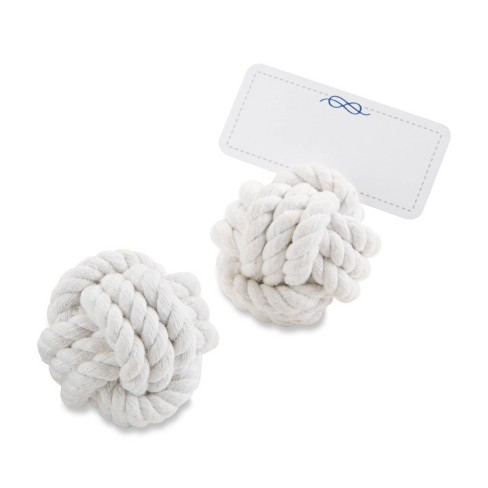 12ct Nautical Cotton Rope Place Card Holder - image 1 of 3