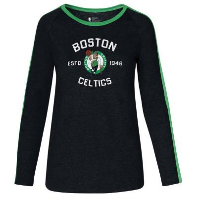 NBA Boston Celtics Women's Team Shoulder Stripe Sweatshirt