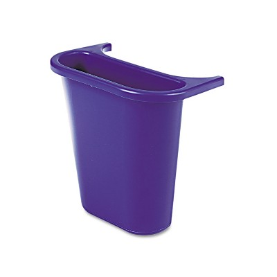 Rubbermaid Commercial Wastebasket Recycling Side Bin Attaches Inside or Outside 4.75qt Blue 295073BE