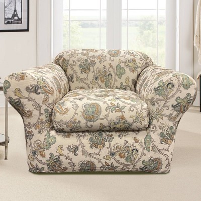 2pc Stretch Arezzo Chair Slipcover - Sure Fit