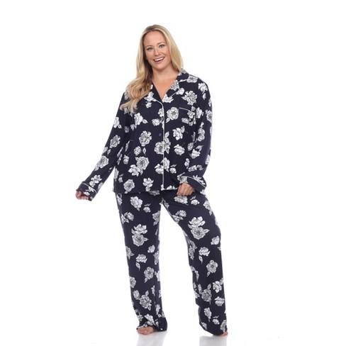Plus Size Long Sleeve Floral Pajama Set - White Mark - image 1 of 4