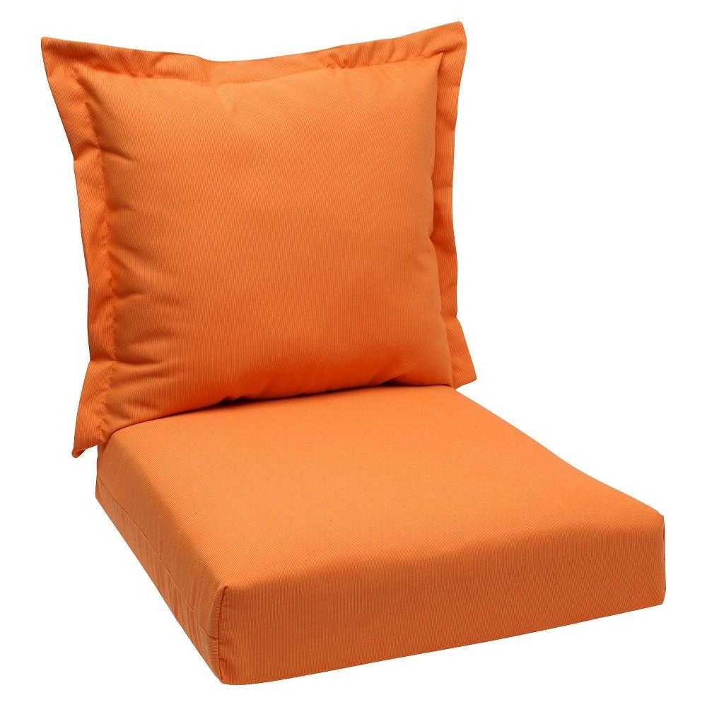 2pc Outdoor Deep Seating Cushion - Tangerine (Orange) - Sunbrella