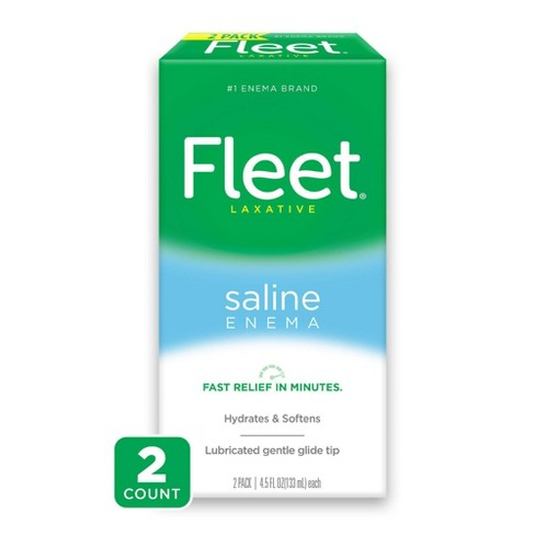 Fleet Laxative Saline Enema for Adult Constipation -  2 Bottles - 4.5 fl oz - image 1 of 3
