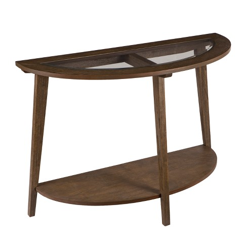 Carmine Demilune Console Table Brown - Aiden Lane - image 1 of 7