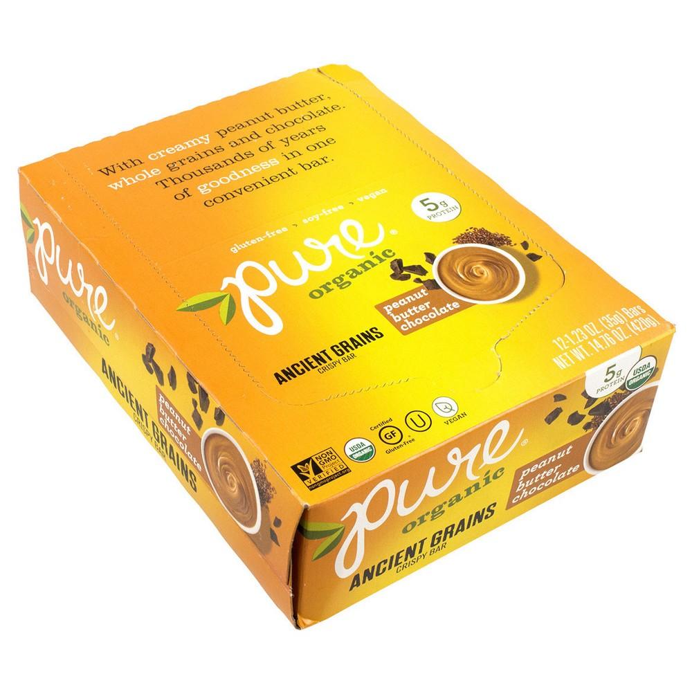 Pure Organic Peanut Butter Chocolate - 14.76 oz - 12 ct