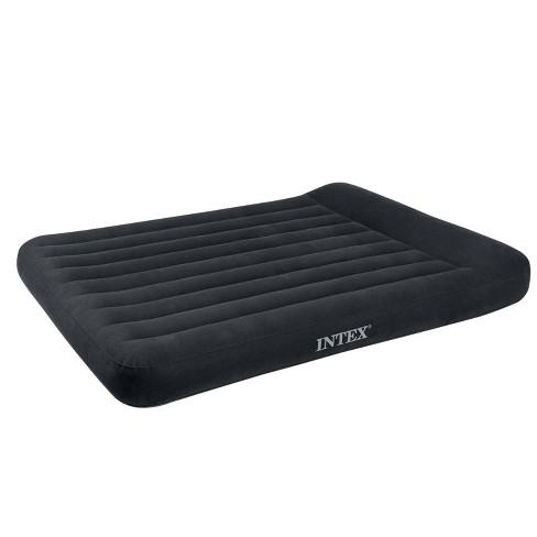 Intex Classic Inflatable Dura Beam Air Mattress Bed w/ Pillow Rest + Pump, Full - image 1 of 4