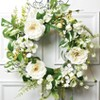 """Sullivans Artificial Peony, Hydrangea and Sweet Pea Wreath 25""""H Green - image 2 of 2"""