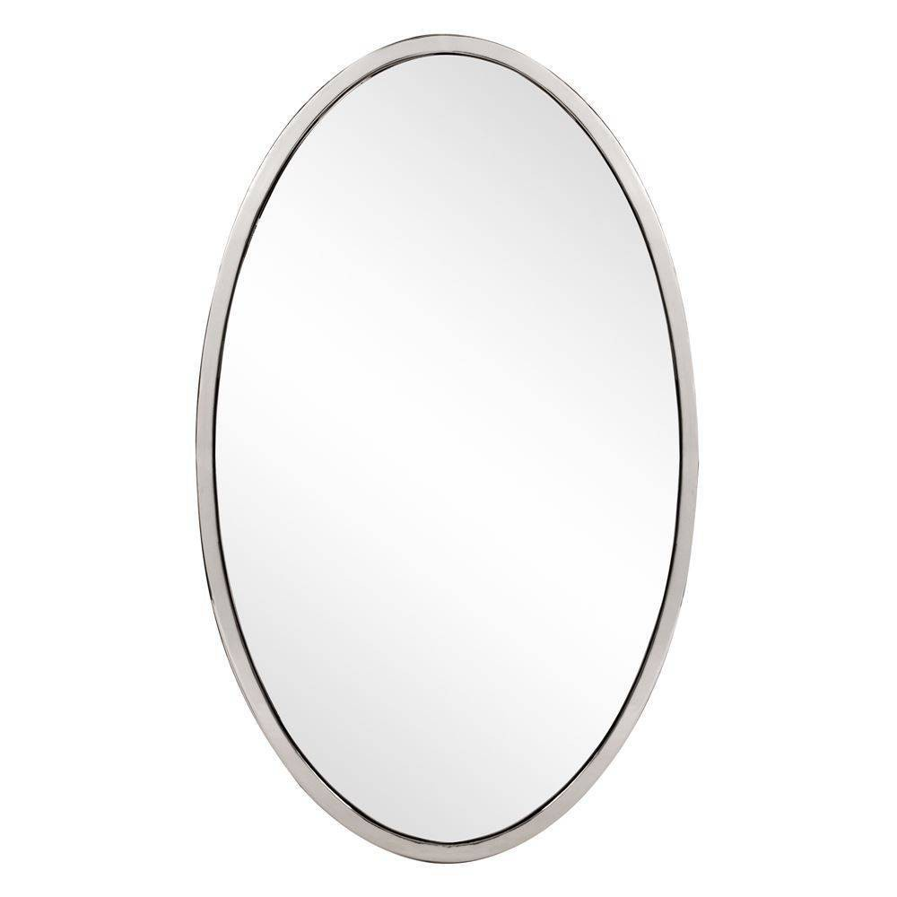 Image of Howard Elliott - Simone Oval Mirror, Silver