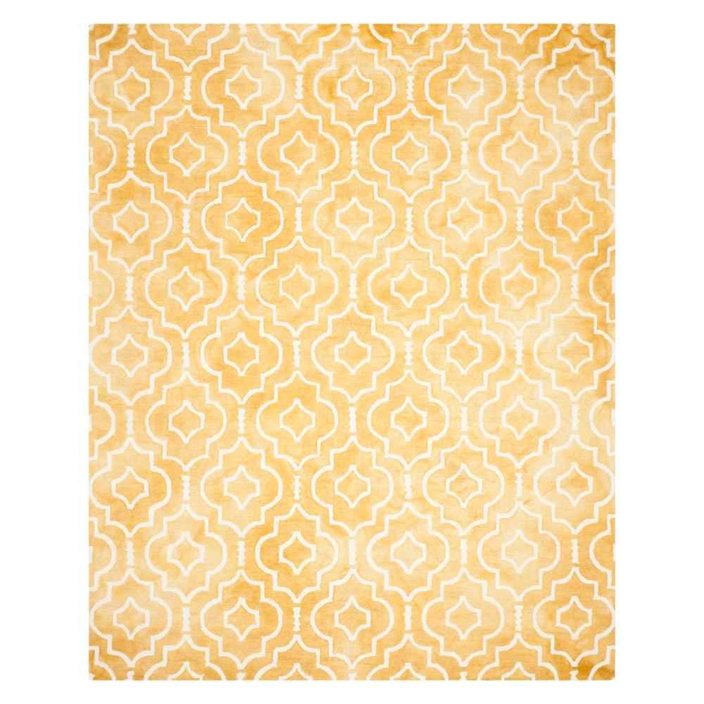 9'X12' Quatrefoil Design Area Rug Gold/Ivory - Safavieh