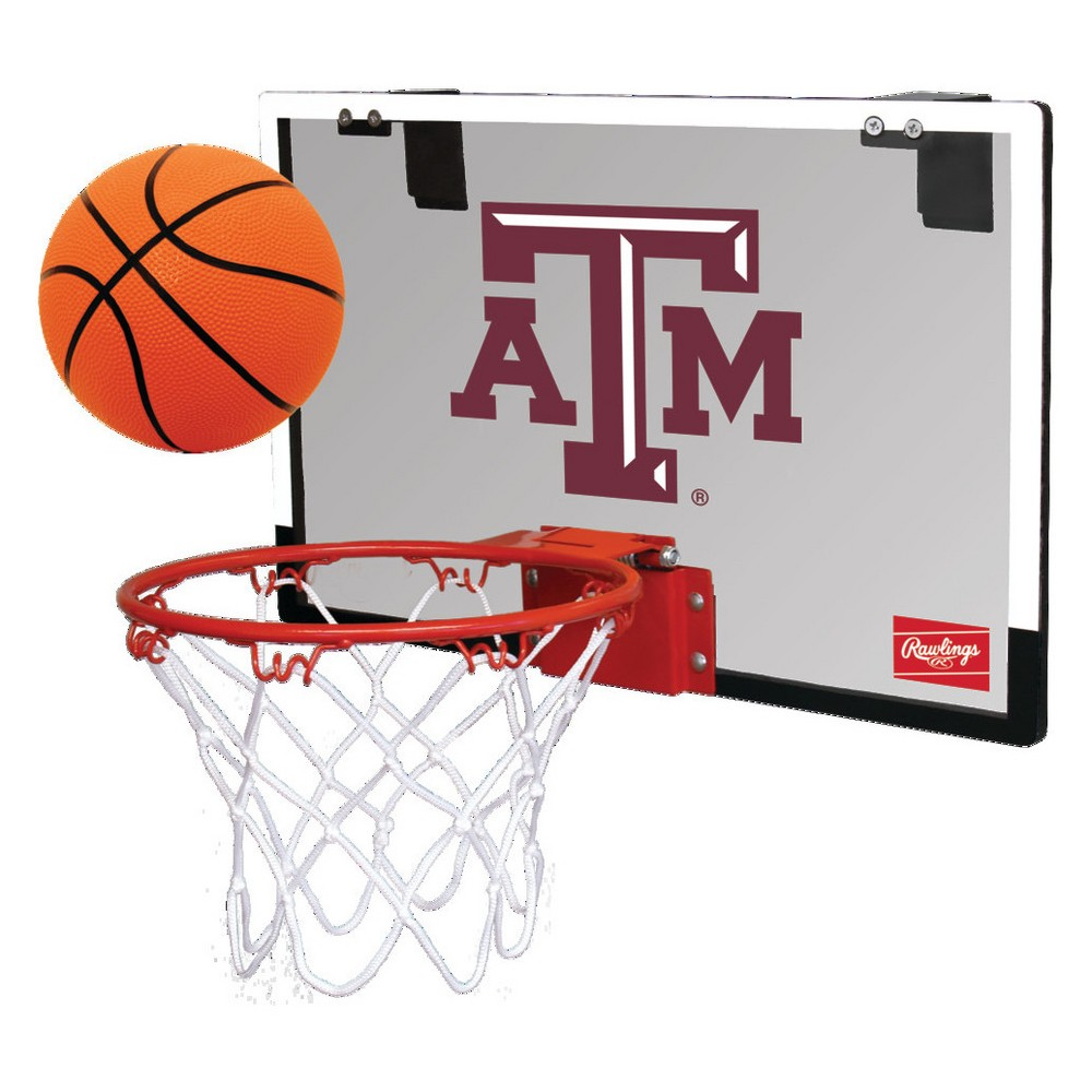 Texas A&m Aggies Rawlings Polycarbonate Over-The-Door Mini Hoop Set