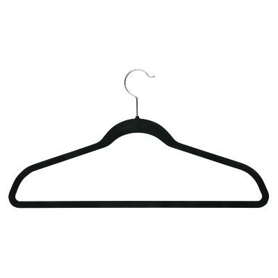Velvet Touch Suit Hanger - Black (9pk)