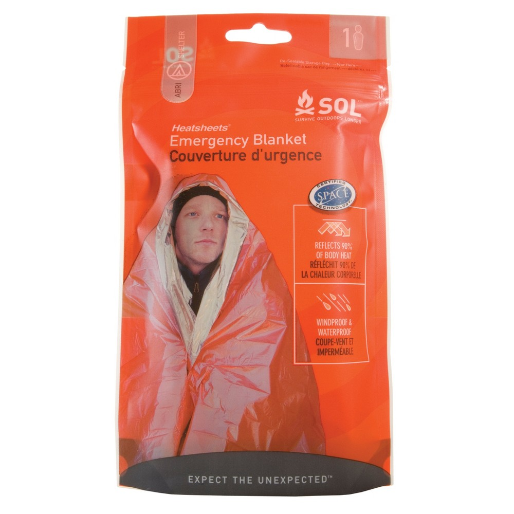 Survive Outdoors Emergency Blanket - Orange