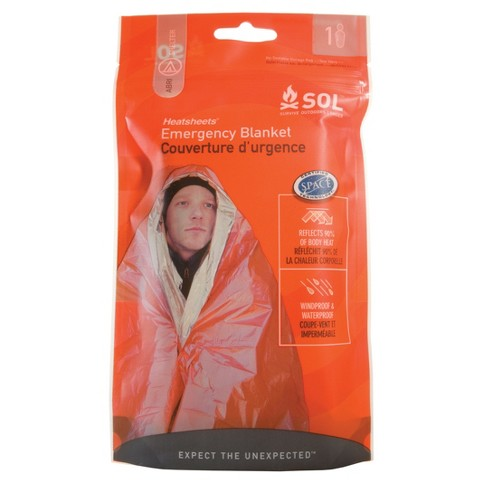 Survive Outdoors Emergency Blanket - Orange - image 1 of 4