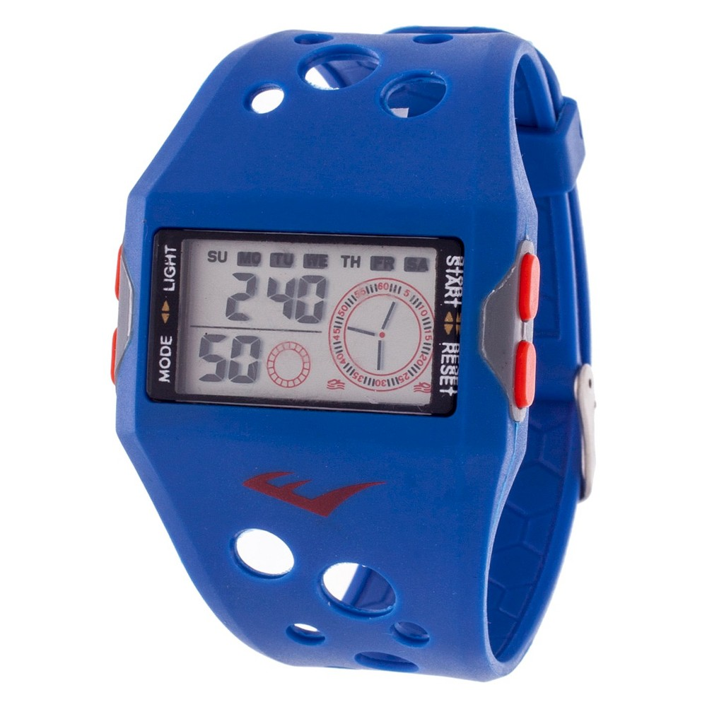 Image of Men's Everlast Accented Plastic Strap and Case Watch - Blue, Size: Small