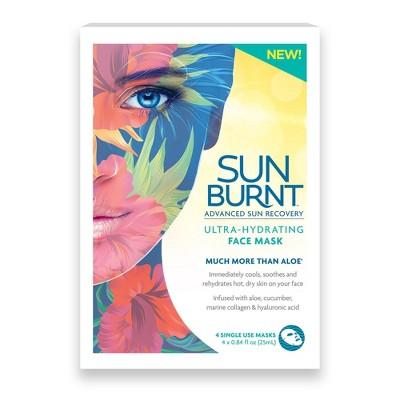 SunBurnt Ultra-Hydrating Face Mask - 4ct/0.84 fl oz