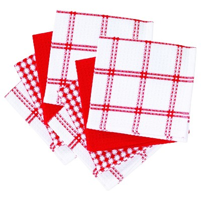 8pk Flat Waffle Kitchen Dish Cloths - T-Fal