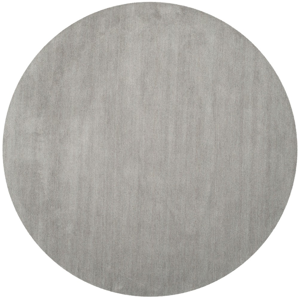 10' Solid Tufted Round Area Rug Gray - Safavieh
