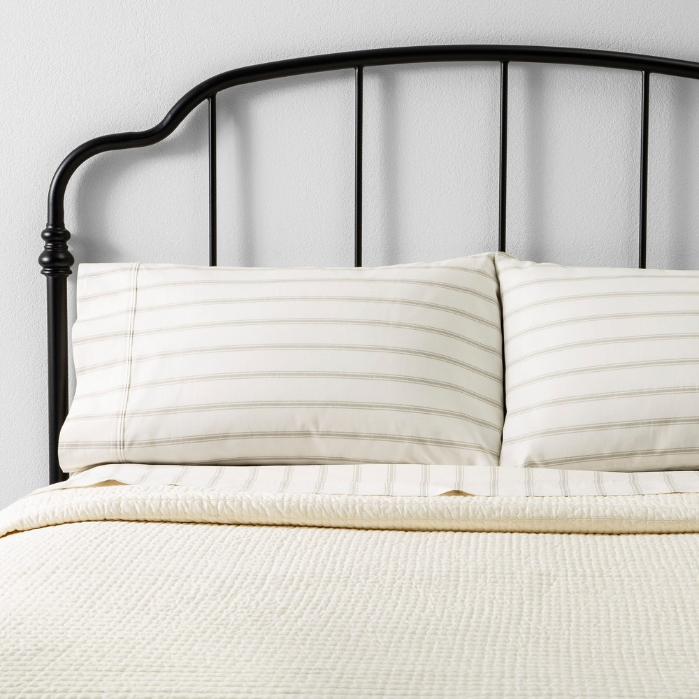 Image of Twin Quilt Texture Stripe Sour Cream - Hearth & Hand with Magnolia