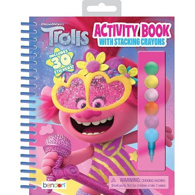 Trolls 2 Activity Book with Stacking Crayons