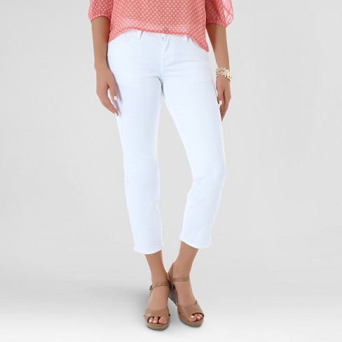 Women's Gresham Curvy Skinny Crop White - Crafted by Lee - image 1 of 4