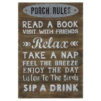 Porch Rules Wall Décor - 3R Studios
