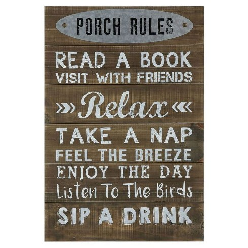 Porch Rules Wall Décor - 3R Studios - image 1 of 1