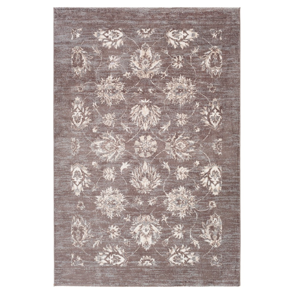 Gray Shadow Solid Tufted Area Rug - (5'3