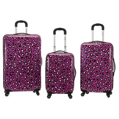 Rockland Leopard 3pc ABS Spinner Luggage Set - image 1 of 3